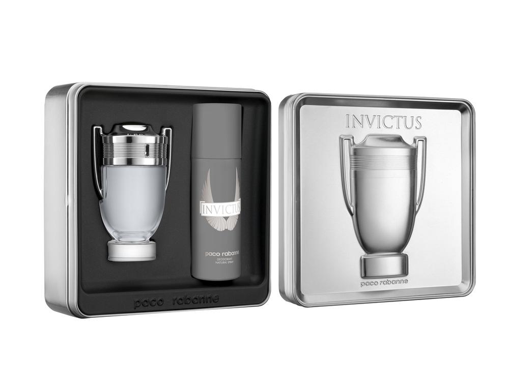 coffrets parfums invictus et 1 million de paco rabanne